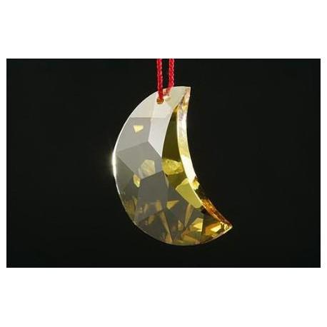 COLGANTE FENG SHUI SWAROSKY LUNA AMARILLA 30 MM