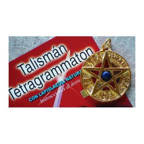 TETRAGRAMATON BAÑO ORO 3,5 CMS CON LAPISLAZULI