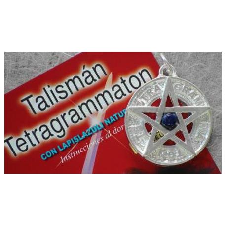 TETRAGRAMATON BAÑO PLATA 3,5 CMS CON LAPISLAZULI
