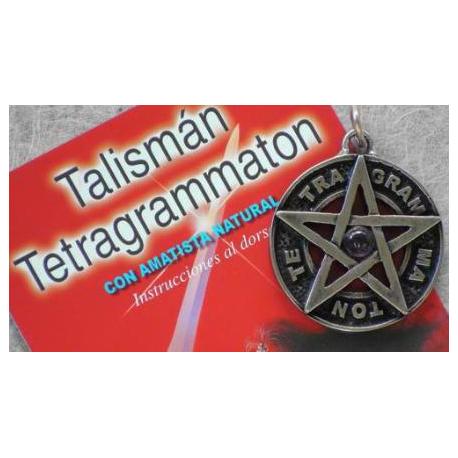 TETRAGRAMATON ENVEJECIDO 3,5 CMS CON AMATISTA