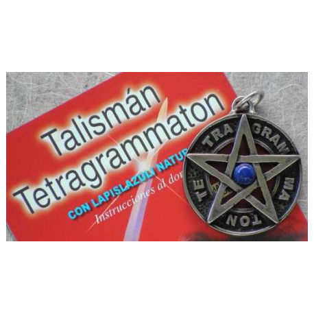 TETRAGRAMATON ENVEJECIDO 3,5 CMS CON LAPISLAZULI