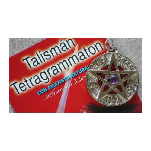TETRAGRAMATON PLATEADO 3,5 CMS AMATISTA