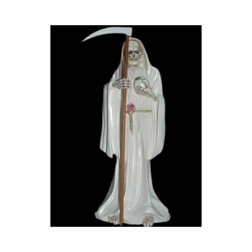 SANTA MUERTE BLANCO, NEGRO O ROJO 30 cm