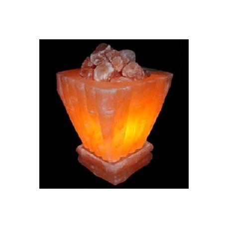 Lámpara Artesanal de Sal Cuenco grande Cuadrado, de 3 a 5 Kg
