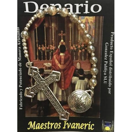 Denario San Benito con Cruz y Circonita