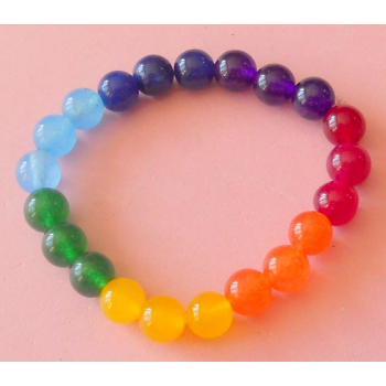 PULSERA CHAKRAS ONIX COLOR 8 mm