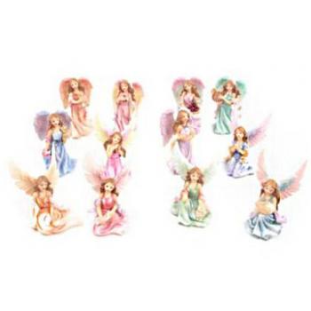 FIGURA ANGEL DE RESINA 3.7 X 6 CM
