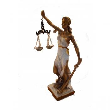 DAMA DE LA JUSTICIA CON BALANZA Y ESPADA 28 cm