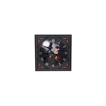 Reloj Pared, Angel Oscuro con Cuervo