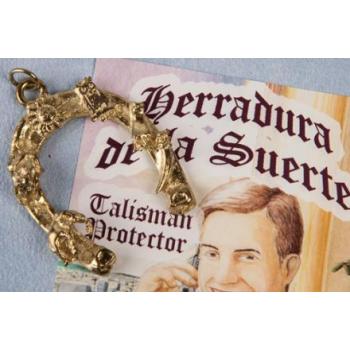 HERRADURA ESPECIAL DE LA BUENA SUERTE DORADA