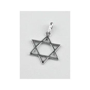 Colgante plata Estrella de David