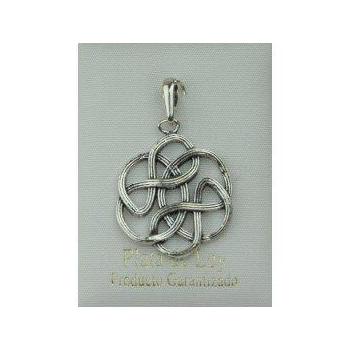 Colgante plata oxido - Nudo Eterno Celta.