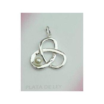 Colgante plata perla