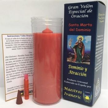 Velón Especial Potenciado Con Oración Santa Marta