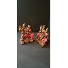 Figura Ganesha Shiva y Parvati