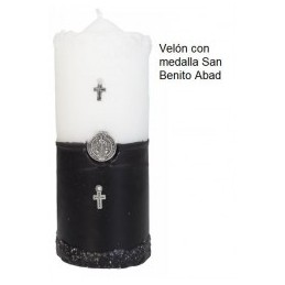 VELÓN CON MEDALLA SAN...