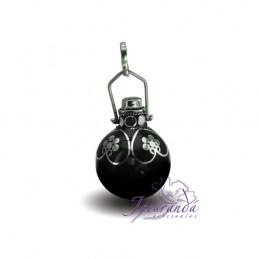 Plata 925  color Negro 15 mm