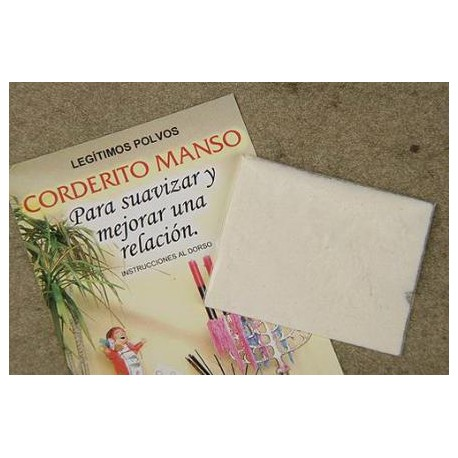 POLVO CORDERITO MANSO suaviza y mejora la relacion